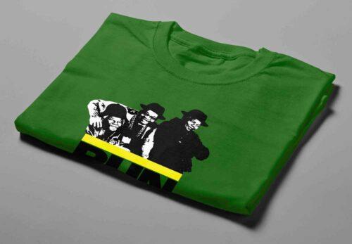 WindhRun DMC ANC Laugh it Off Parody Men's T-shirt - green - folded short