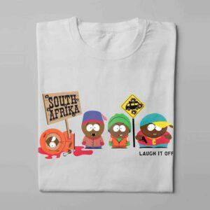 South Park Laugh it Off Parody Men's T-shirt - white - folded long
