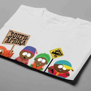 South Park Laugh it Off Parody Men's T-shirt - white - folded short
