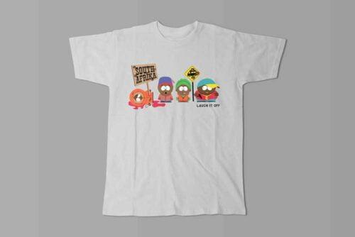 South Park Laugh it Off Parody Men's T-shirt - white