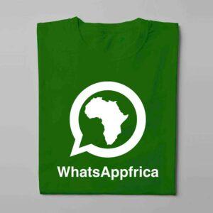 WhatsApp Laugh it Off Parody Men's T-shirt - green - folded long
