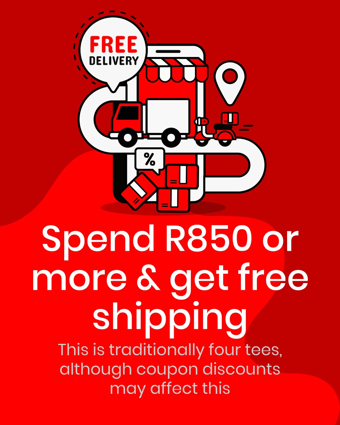 Free Shipping T-shirt Banner