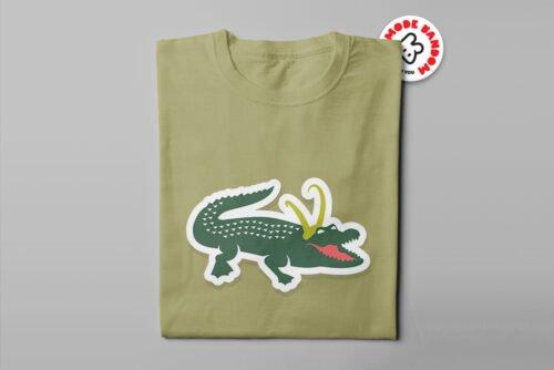 Alligator Loki Marvel Parody Men's Tee - olive - folded long