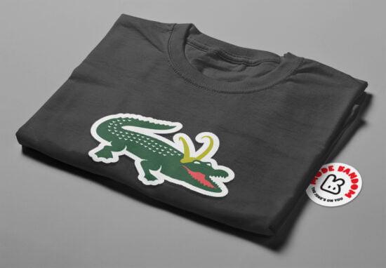 Alligator Loki Marvel Parody Men's Tee - charcoal - folded short