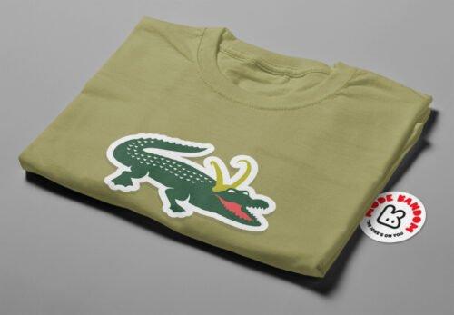 Alligator Loki Marvel Parody Men's Tee - olive - folded short