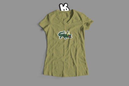 Alligator Loki Marvel Parody Ladies' Tee - olive