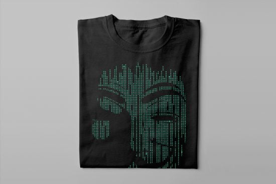 Anonymous Gamma-Ray Graphic Design Men's Tee - black- folded long