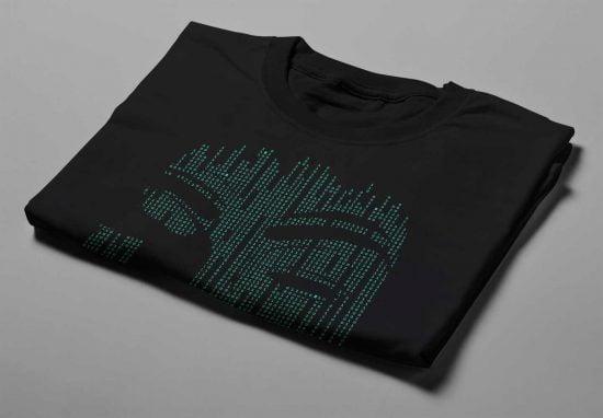Anonymous Gamma-Ray Graphic Design Men's Tee - black - folded short