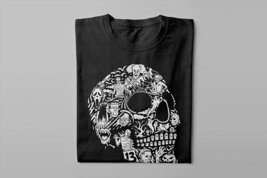 Horrorween Gamma-Ray Graphic Design Men's Tee - black - folded long