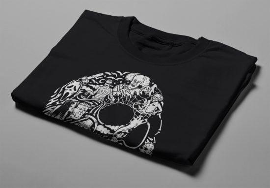 Horrorween Gamma-Ray Graphic Design Men's Tee - black - folded short