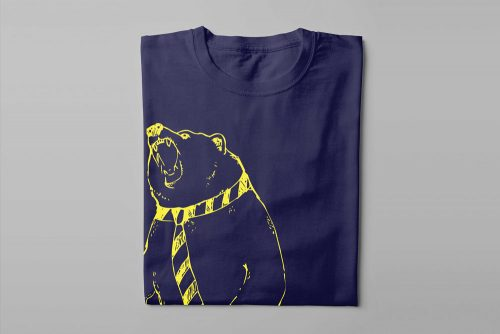 Zoom Call Graphic Laugh it Off Men's T-shirt - navy blue - folded long