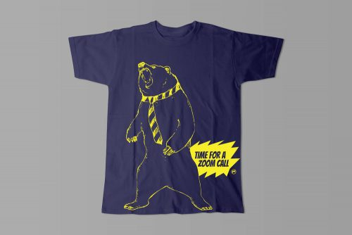 Zoom Call Graphic Laugh it Off Men's T-shirt - navy blue