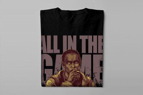 Omar Little The Wire Fan Art Men's T-shirt - black - folded long
