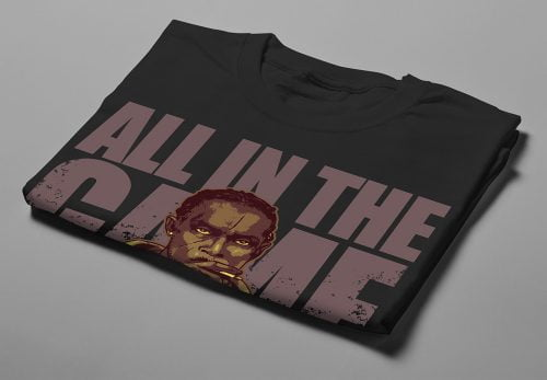 Omar Little The Wire Fan Art Men's T-shirt - black - folded short