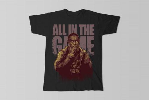 Omar Little The Wire Fan Art Men's T-shirt - black