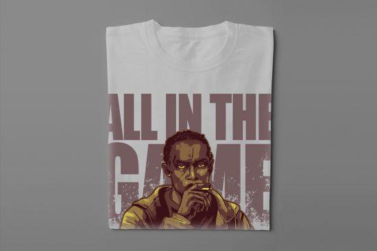 Omar Little The Wire Fan Art Men's T-shirt - cement - folded long