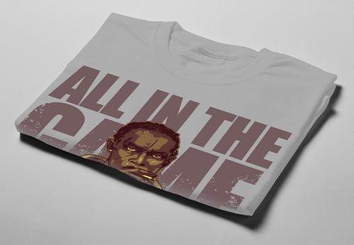 Omar Little The Wire Fan Art Men's T-shirt - cement - folded short