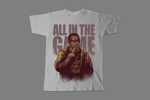 Omar Little The Wire Fan Art Men's T-shirt - cement