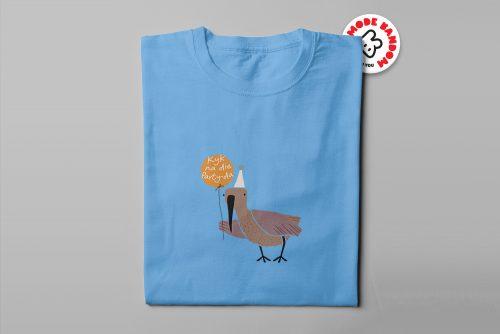 Hadeda Funny Mode Random Men's Tee - sky blue - folded long